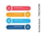 modern infographic options...   Shutterstock .eps vector #708156589