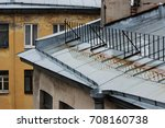 roofs of old houses  covered... | Shutterstock . vector #708160738