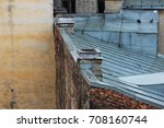 roofs of old brick houses ... | Shutterstock . vector #708160744
