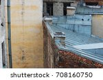 roofs of old brick houses ... | Shutterstock . vector #708160750