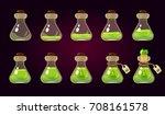 game icon of magic green elixir.... | Shutterstock .eps vector #708161578