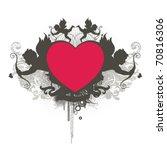 grunge heart design