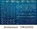 vector hud elements set for... | Shutterstock .eps vector #708165904