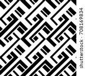 seamless pattern  black and... | Shutterstock . vector #708169834