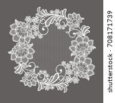 lace flowers decoration element | Shutterstock .eps vector #708171739