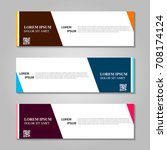 vector abstract design banner... | Shutterstock .eps vector #708174124