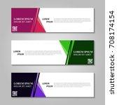 vector abstract design banner...   Shutterstock .eps vector #708174154