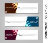 vector abstract design banner... | Shutterstock .eps vector #708174214