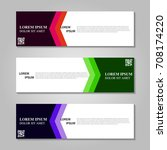 vector abstract design banner... | Shutterstock .eps vector #708174220