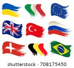 collection of popular world... | Shutterstock .eps vector #708175450