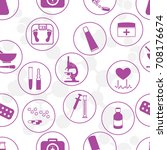 seamless pattern of various...   Shutterstock .eps vector #708176674