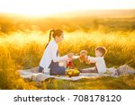 cute mom and little son playing ... | Shutterstock . vector #708178120