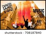 music event. dancing people   Shutterstock .eps vector #708187840