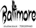 baltimore text sign... | Shutterstock .eps vector #708189460