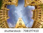 philadelphia city hall looking... | Shutterstock . vector #708197410