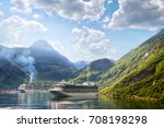 cruise liners anchored at... | Shutterstock . vector #708198298