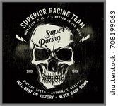 vintage bikers graphics and... | Shutterstock .eps vector #708199063