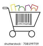 online shopping icon | Shutterstock . vector #708199759