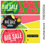 summer sale abstract banner... | Shutterstock . vector #708200026
