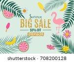 summer sale abstract banner... | Shutterstock . vector #708200128
