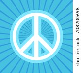 peace symbol vector icon in... | Shutterstock .eps vector #708200698