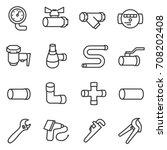 sanitary engineering. water... | Shutterstock .eps vector #708202408