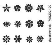 flowers set | Shutterstock .eps vector #708202420