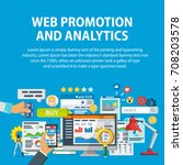 web promotion and analytics of... | Shutterstock .eps vector #708203578