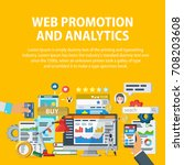 web promotion and analytics of... | Shutterstock .eps vector #708203608