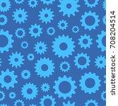 cogs seamless pattern ... | Shutterstock .eps vector #708204514