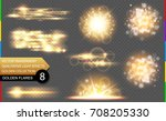 abstract vector golden special... | Shutterstock .eps vector #708205330