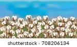 horizontal seamless cotton... | Shutterstock .eps vector #708206134