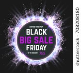 black friday sale abstract... | Shutterstock .eps vector #708208180