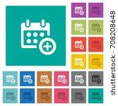 add to calendar multi colored...   Shutterstock .eps vector #708208648