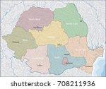 map of romania   Shutterstock .eps vector #708211936