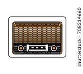 isolated retro radio design | Shutterstock .eps vector #708214660