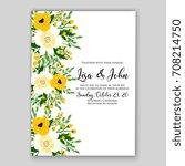 invitation template of wedding... | Shutterstock .eps vector #708214750