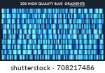 blue chrome gradient set... | Shutterstock .eps vector #708217486
