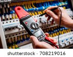 electrical measurements with... | Shutterstock . vector #708219016