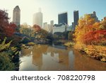 central park with morning... | Shutterstock . vector #708220798