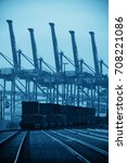 seattle  wa   aug 14  crane... | Shutterstock . vector #708221086