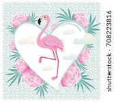 vector illustration pink... | Shutterstock .eps vector #708223816