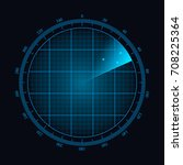 digital radar with the aims on... | Shutterstock .eps vector #708225364