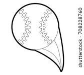 isolated baseball design | Shutterstock .eps vector #708228760
