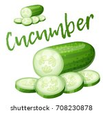 cucumber. cartoon vector icon...