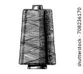 vector black and white hand... | Shutterstock .eps vector #708236170