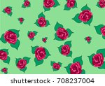 buds of roses of different size ... | Shutterstock .eps vector #708237004