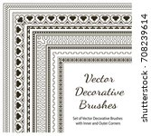 vector decorative brushes with ...