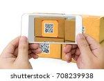qr code payment   online... | Shutterstock . vector #708239938