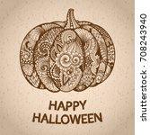 pumpkin in zen tangle or zen